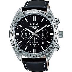 Pulsar - Men's black chronograph strap watch