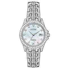 Citizen - Ladies eco-drive crystal bracelet watch