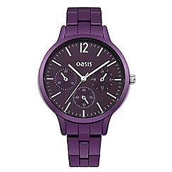 Oasis - Ladies purple bracelet watch