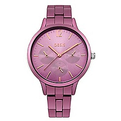 Oasis - Ladies pink bracelet watch