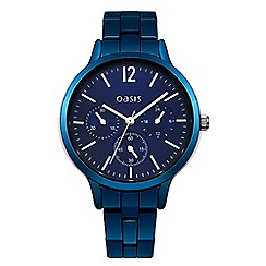Oasis - Ladies blue bracelet watch