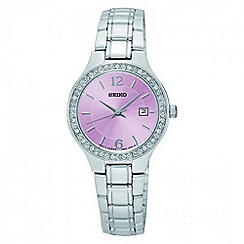 Seiko - Ladies stainless steel bracelet watch