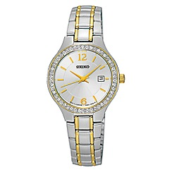 Seiko - Ladies silver and gold quartz bracelet watch