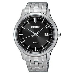Seiko - Men's silver quartz bracelet watch
