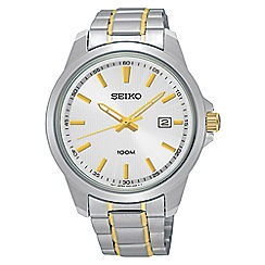 Seiko - Men's silver and gold quartz bracelet watch
