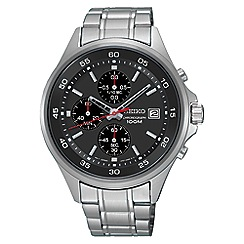 Seiko - Men's silver quartz chronograph bracelet watch