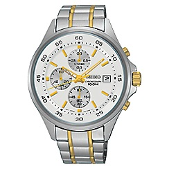 Seiko - Men's silver and gold quartz chronograph bracelet watch