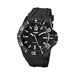 Limit - Men's black water resistant silicone strap watch