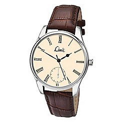 Limit - Men's silver coloured strap watch