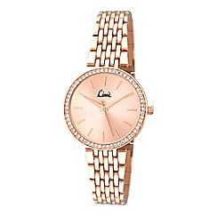 Limit - Ladies rose gold plated bracelet watch