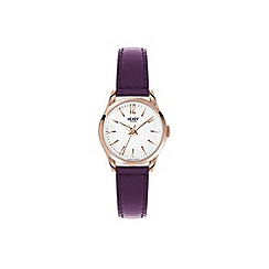 Henry London - Ladies purple 'Hampstead' leather strap watch