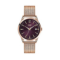 Henry London - Ladies polished 'Hampstead' bracelet watch