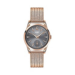 Henry London - Ladies rose gold 'Finchley' bracelet watch