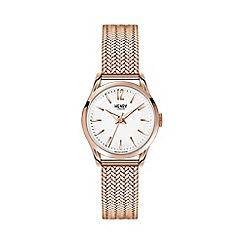 Henry London - Ladies rose gold 'Richmond' bracelet watch