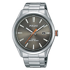Pulsar - Men's grey analogue bracelet watch