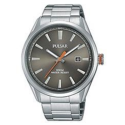 Pulsar - Men's grey analogue bracelet watch ps9381x1
