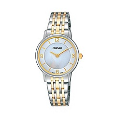 Pulsar - Ladies two tone analogue bracelet watch prw027x1