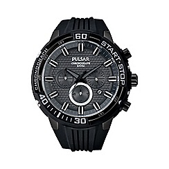 Pulsar - Men's black ION chronograph strap watch