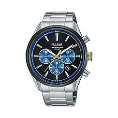 Pulsar - Men's blue chronograph bracelet watch pt3727x1