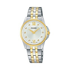 Pulsar - Ladies two tone analogue bracelet watch