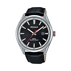Pulsar - Men's black analogue strap watch