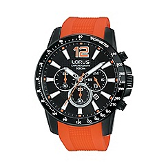 Lorus - Gents chronograph on orange silicone strap