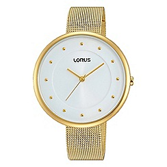 Lorus - Ladies gold plated mesh bracelet watch