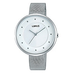 Lorus - Ladies stainless steel mesh bracelet watch