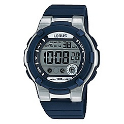 Lorus - Kids sporty digital watch on blue silicone strap