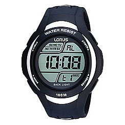 Lorus - Digital watch with a black polyurethane strap
