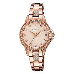 Lorus - Ladies rose gold bracelet watch rg270kx9