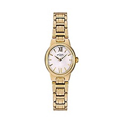 Rotary - Ladies gold plated watch lb02748/01