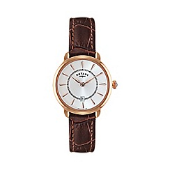Rotary - Ladies rose gold plated strap watch