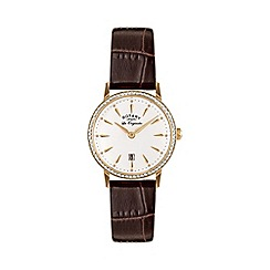 Rotary - Ladies gold plated strap watch ls90054/01