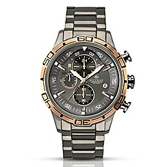 Accurist - Men's gun metal grey chronograph bracelet watch