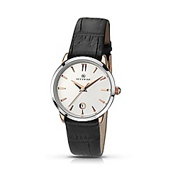 Accurist - Women's black analogue leather strap watch