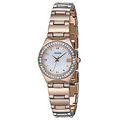Accurist - Women's rose gold plated analogue bracelet watch