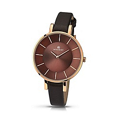 Accurist - Women's brown analogue leather strap watch