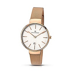 Accurist - Women's rose gold plated analogue mesh bracelet watch