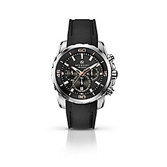 Accurist - Men's black chronograph silicone strap watch