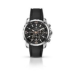 Accurist - Men's black chronograph silicone strap watch