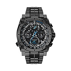 Bulova - Men's gun metal IP plating chronograph bracelet watch