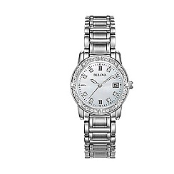 Bulova - Ladies stainless steel bracelet watch