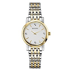 Bulova - Ladies yellow gold bracelet watch