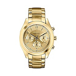 Caravelle New York - Ladies gold IP chronograph watch with bracelet strap 44l118
