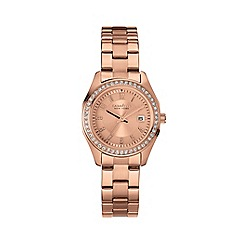 Caravelle New York - Ladies rose gold IP watch with bracelet strap