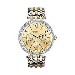 Caravelle New York - Ladies two-tone stainless steel watch