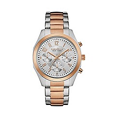 Caravelle New York - Ladies rose gold IP watch with bracelet strap 45l149