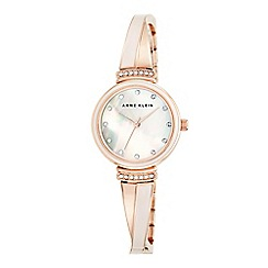 Caravelle New York - Ladies rose gold IP chronograph watch with bracelet strap 44l198