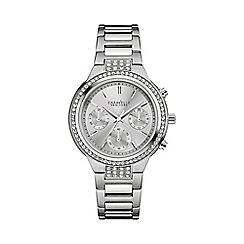 Caravelle New York - Ladies stainless steel chronograph watch with bracelet strap